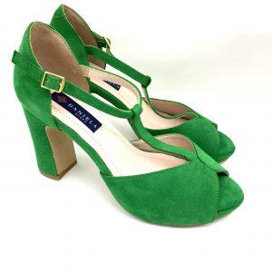 Sandalia plataforma VERDE Daniela Shoes 20195 Calzados Atikka Karina Zaragoza