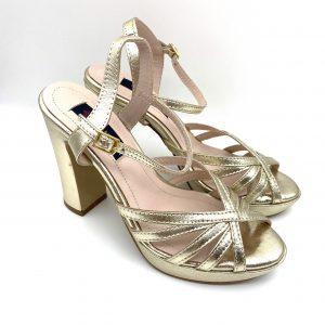 Sandalia metalizada ORO Daniela Shoes 20199 Calzados Atikka Karina Zaragoza