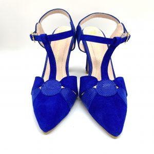 Zapato destalonado AZUL Estefania Marco 5064