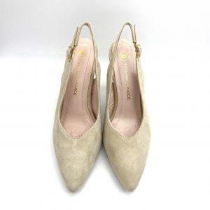 Zapato destalonado BEIG Estefania Marco 5067