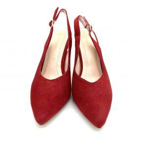 Zapato destalonado ROJO Estefania Marco 5067