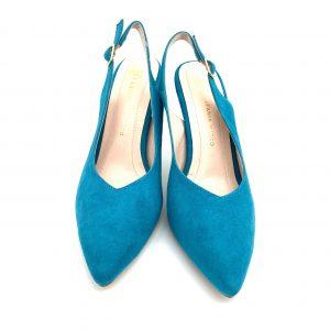 Zapato destalonado TURQUESA Estefania Marco 5067