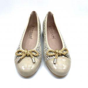 Zapato piel BEIGE PITILLOS 6071 Atikka Calzados Zaragoza