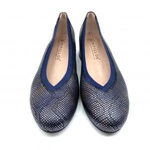 Zapato piel AZUL PITILLOS 6072 Atikka Calzados Zaragoza